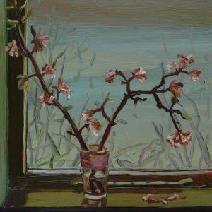Winterblossom, 20 x 17 cm, oil on perspex on wood, 2021