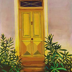 Door Nr. 6, gouache, pastel, chalk on paper, 60 x 48 cm, 2021
