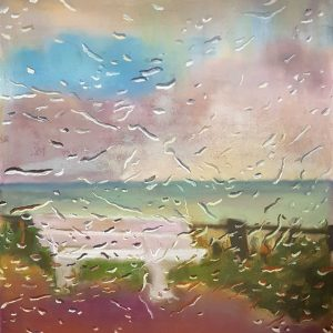 View - Boulevard, gouache, pastel, chalk on paper, 60 x 48 cm, 2021