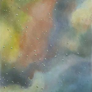 Rain - Clouds, pastel on paper, 60 x 48 cm, 2021