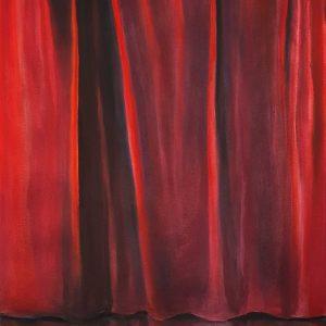Red Velvet, pastel on paper, 60 x 48 cm, 2021