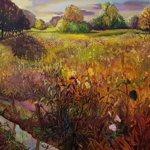 Field - Tree lane (Sellink), 130 x 180 cm, oil on canvas 2021