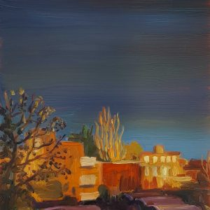 View - Sunlight, 20 x 17 cm, oil on perspex on wood, 2021