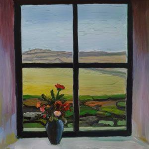 View - Vase, 20 x 17 cm, oil on perspex on wood, 2021