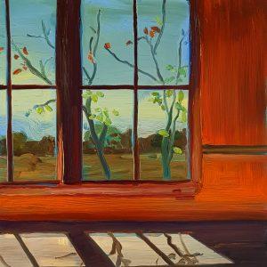 View - Room, 20 x 17 cm, oil on perspex on wood, 202