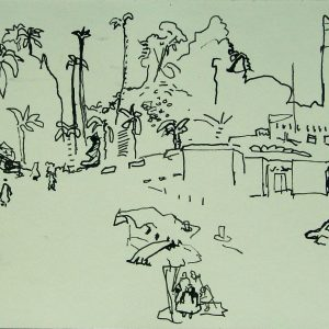 Djemaa el Fna # 1, 21 x 30 cm, ink on paper, 2002