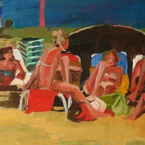 Strand # 4, 50 x 80 cm, oil on canvas, 2004