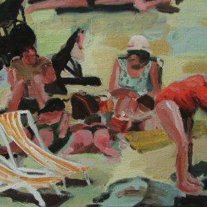 Strand # 2, 40 x 50 cm, oil on canvas, 2004