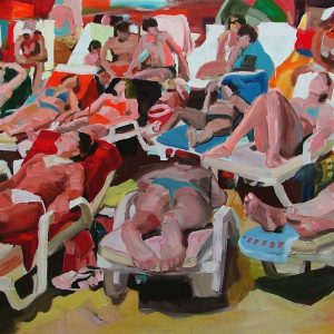 BB sunny day, 110 x 180 cm, oil on canvas, 2004
