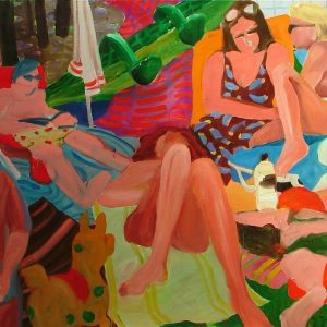 Inflatable, 120 x 190 cm, oil on canvas, 2004