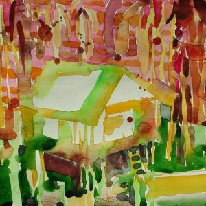Hot house, 23 x 31 cm, watercolour on paper, 2005