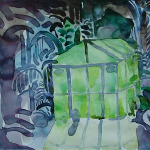 Greenhouse, 24 x 32 cm, watercolour on paper, 2005