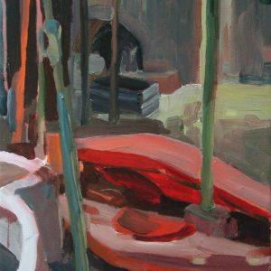 Kayak # 1, 45 x 35 cm, acrylic on canvas, 2005