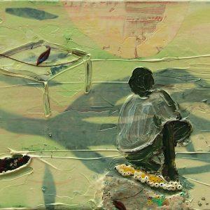 Boy # 1, 25 x 35 cm, mixed media on canvas, 2006