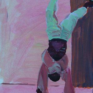 Boy upside down # 2, 23 x 17 cm, oil on paper, 2007
