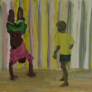 Boys # 1, 24 x 32 cm, oil on paper, 2007