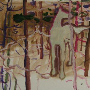 White horse, 24 x 32 cm, oil on paper, 2007
