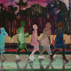 Walk # 2, 50 x 60 cm, mixed media on canvas, 2007