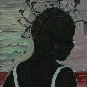 Girl, 25 x 25 cm, oil on canvas, 2007