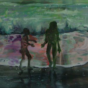 Girl, boy, 60 x 65 cm, oil on canvas, 2007