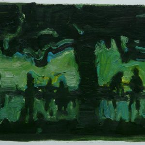 Untitled # 2, oil on paper, 23 x 30 cm, 2008