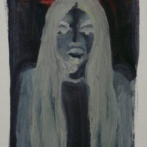 Virgin # 5, oil on paper, 30 x 23 cm, 2008