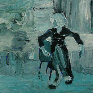 Untitled # 1, 35 x 45 cm, acrylic on canvas, 2008