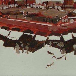 Djemaa el Fna # 1, 21 x 29,6 cm, acrylic on paper, 2008