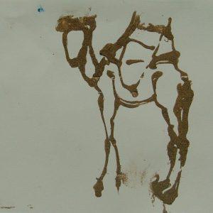 Essouiera camel # 4, 21 x 29,6 cm, sand on paper, 2008