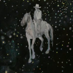 Galactic Rider, 190 x 259 cm, mixed media on paper, 2009
