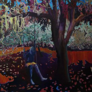 Swing Boy, 150 x 150 cm, oil on canvas, 2009