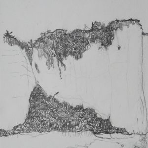 The Rock, 29 x 21 cm, pencil on paper, 2009