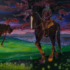 Survivor, 150 x 180 cm, oil and oilpastel on canvas, 2009/2010