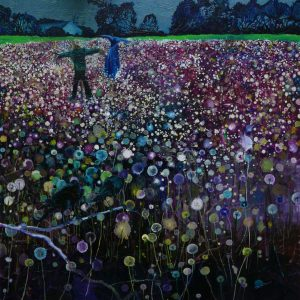 The Field # 6 (Scarecrows), 150 x 145 cm, oil on canvas, 2010