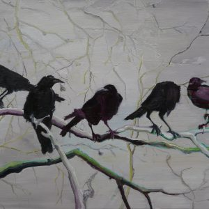 Crows, 80 x 110 cm, oil on canvas, 2010