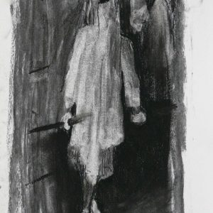 The veiled # 5 (Mantilla), 32,5 x 24 cm, charcoal on paper, 2010