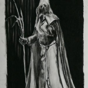Nazareno # 1, 48 x 32 cm, black chalk on paper, 2010