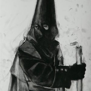 Nazareno # 3, 48 x 32 cm, black chalk on paper, 2010