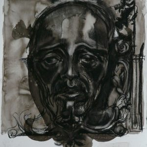 His Head, 48 x 32 cm, ink and black chalk on paper, 2010