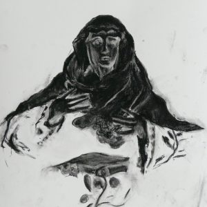 Virgin # 1, 48 x 32 cm, black chalk on paper, 2010