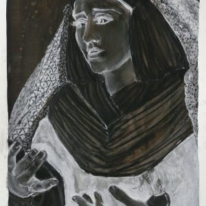 Virgin # 2, 48 x 32 cm, black chalk on paper, 2010