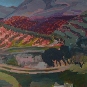 Landscape # 1, 32 x 48 cm, acrylic on paper, 2010
