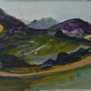 The Road # 2, 32 x 48 cm, acrylic on paper, 2010