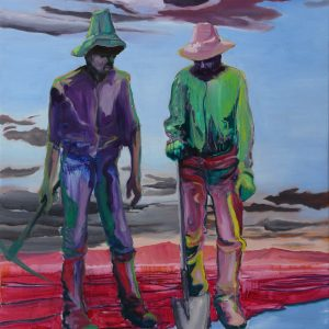 Diggers # 5, 125 x 100 cm, oil on canvas, 2011