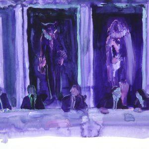 Straight Flush # 1, 35 x 45 cm, acrylic on paper, 2011