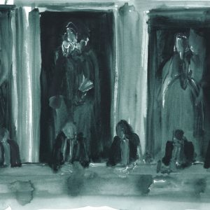 Straight Flush # 2, 35 x 45 cm, acrylic on paper, 2011
