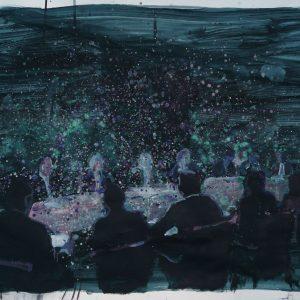 Blind man`s bluff, 70 x 100 cm, acrylic on paper, 2011