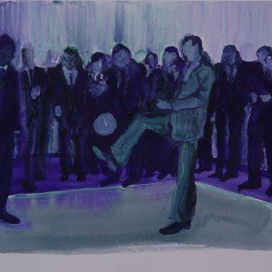 Player (balletje), 35 x 45 cm, acrylic on paper, 2011