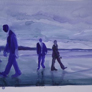 Players # 3, 35 x 45 cm, acrylic on paper, 2011