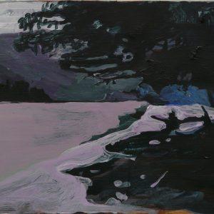 Danube riverbank # 1, 32 x 48 cm, acrylic on paper, 2011